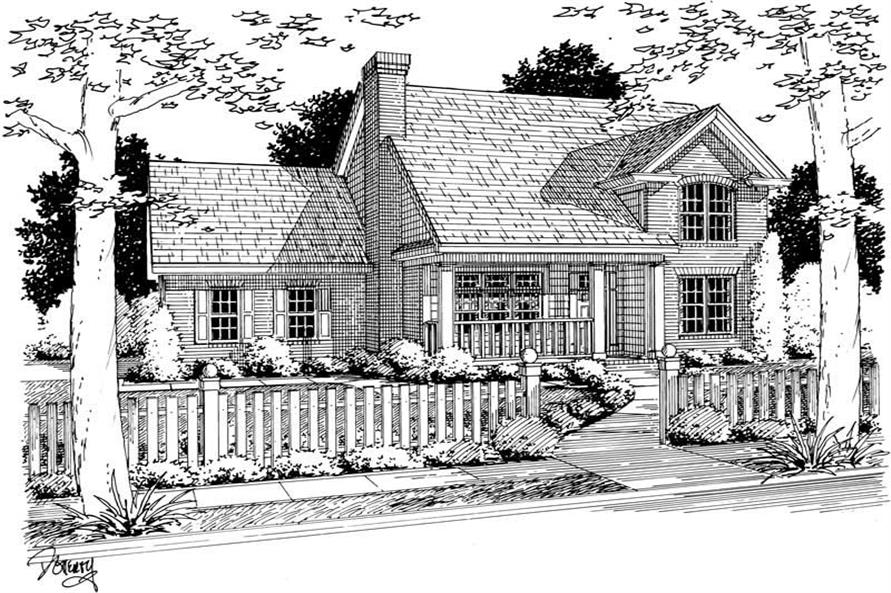3-Bedroom, 1671 Sq Ft Small House Plans - 178-1070 - Main Exterior