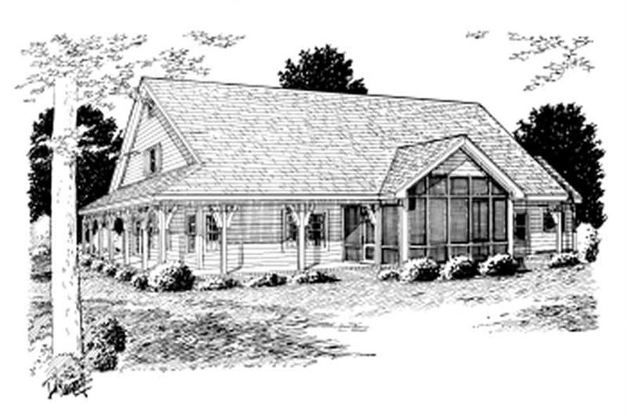 Home Plan Rear Elevation of this 4-Bedroom,2546 Sq Ft Plan -178-1071