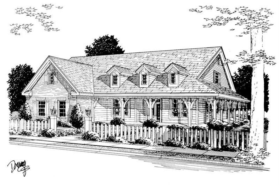 4-Bedroom, 2546 Sq Ft Country House Plan - 178-1071 - Front Exterior
