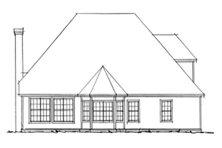 Home Plan Rear Elevation of this 3-Bedroom,2176 Sq Ft Plan -178-1072