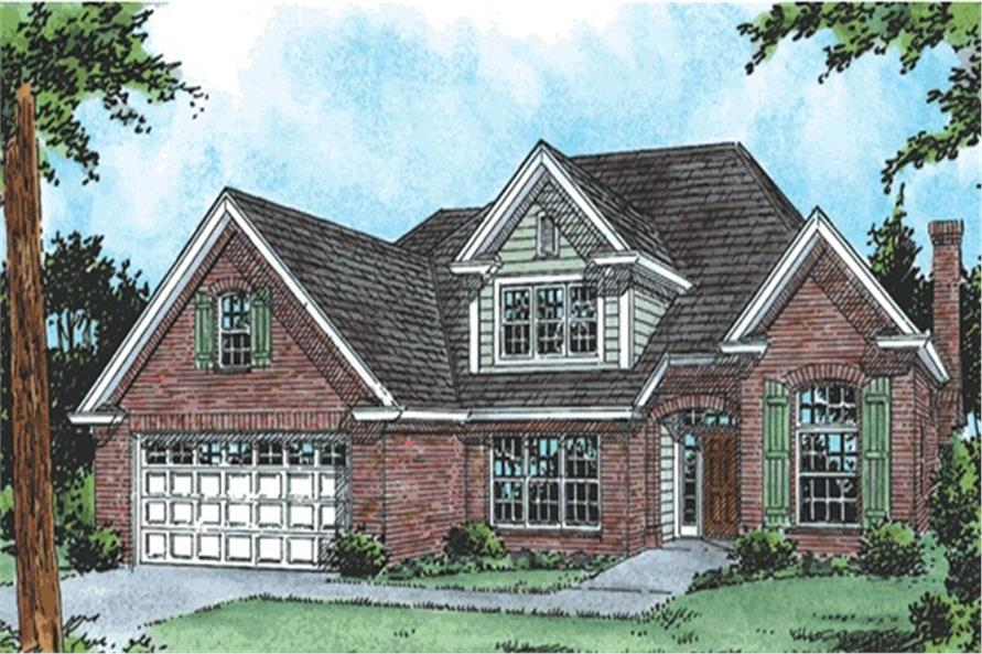3-Bedroom, 2176 Sq Ft Traditional Home Plan - 178-1072 - Main Exterior