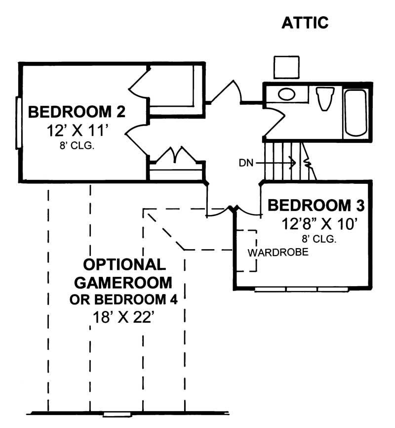 Messy Kitchen Floor Plan: Traditional Home Plan