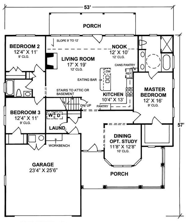 Ranch house plans handicap accessible for Small wheelchair accessible house plans