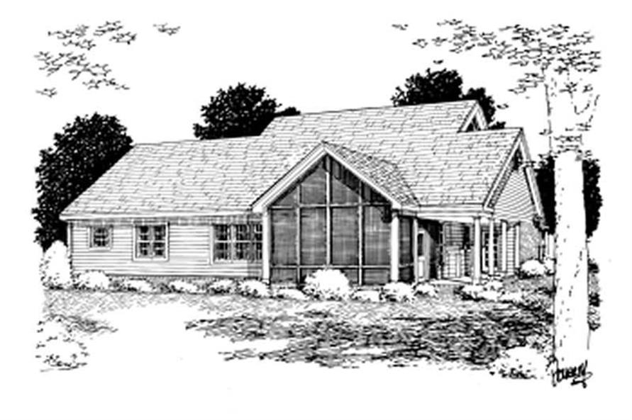 Home Plan Rear Elevation of this 3-Bedroom,1995 Sq Ft Plan -178-1074