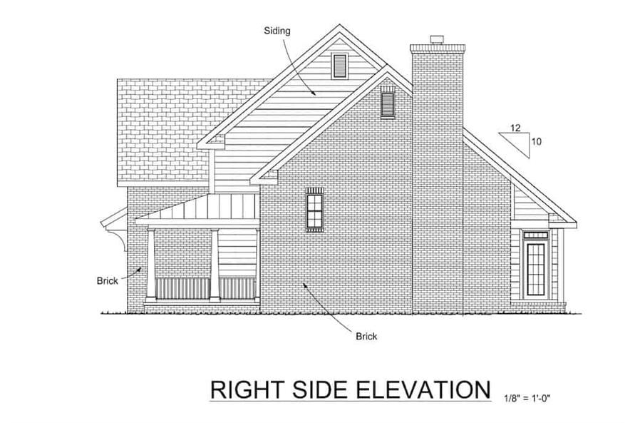 Home Plan Right Elevation of this 4-Bedroom,2241 Sq Ft Plan -178-1075