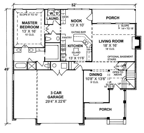 178-1075: Floor Plan Main Level