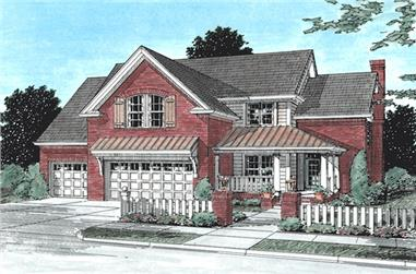 4-Bedroom, 2241 Sq Ft Country House Plan - 178-1075 - Front Exterior