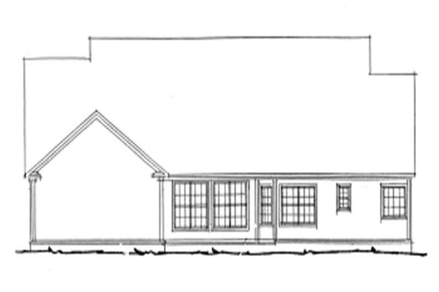 Home Plan Rear Elevation of this 4-Bedroom,2592 Sq Ft Plan -178-1078