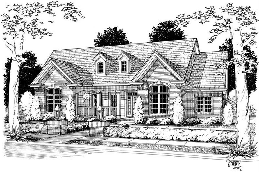 4-Bedroom, 2592 Sq Ft Country Home Plan - 178-1078 - Main Exterior