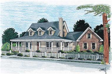 3-Bedroom, 1675 Sq Ft Country House Plan - 178-1079 - Front Exterior