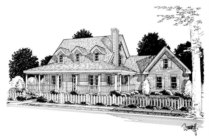 Home Plan Rendering of this 3-Bedroom,1675 Sq Ft Plan -178-1079