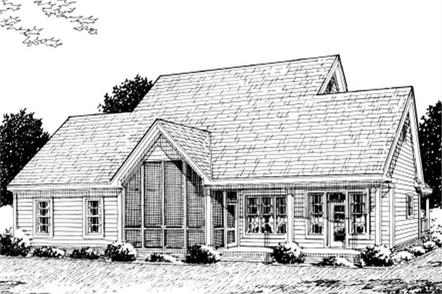 Home Plan Rear Elevation of this 4-Bedroom,1980 Sq Ft Plan -178-1080