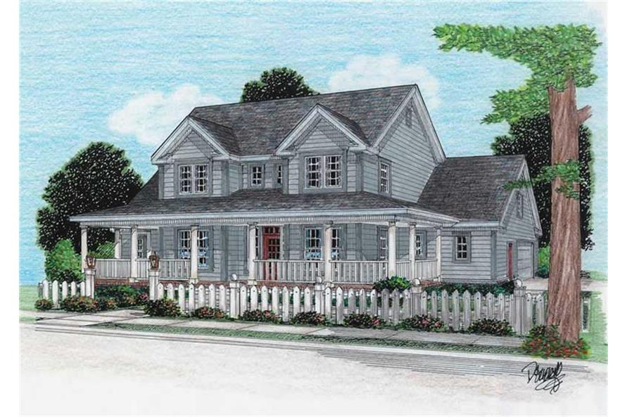Home Plan Rendering of this 4-Bedroom,1980 Sq Ft Plan -178-1080