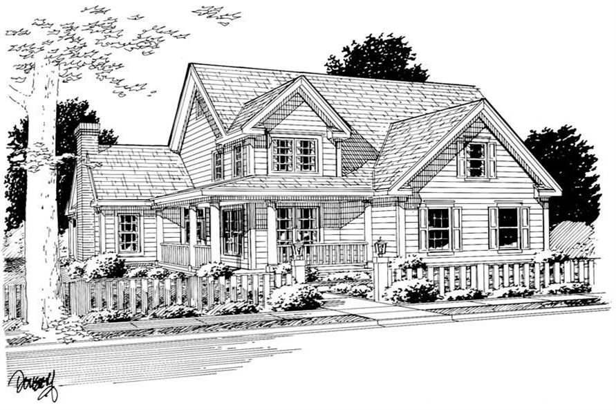 Home Plan Rendering of this 3-Bedroom,1867 Sq Ft Plan -178-1081