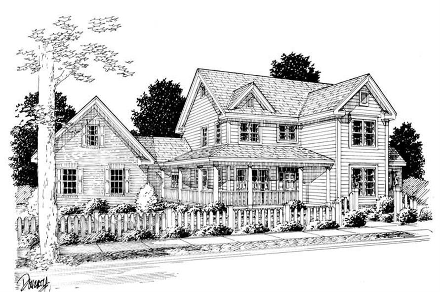 Home Plan Rendering of this 3-Bedroom,2382 Sq Ft Plan -178-1082