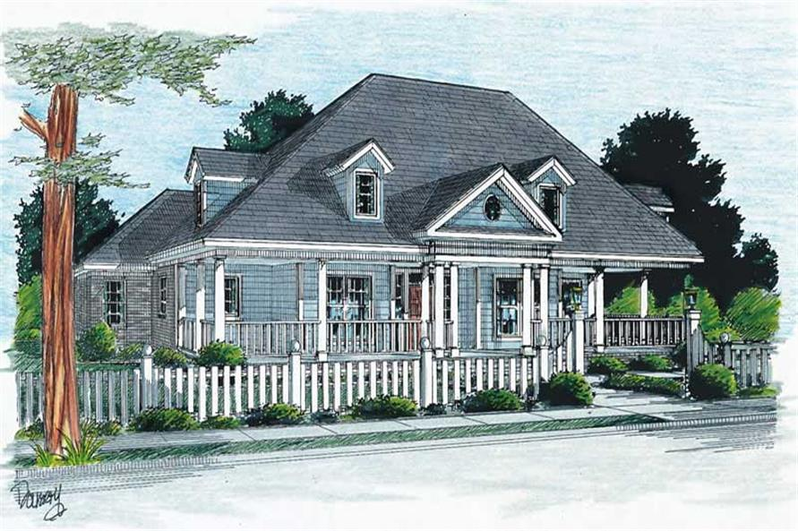 3-Bedroom, 2135 Sq Ft Country House Plan - 178-1083 - Front Exterior