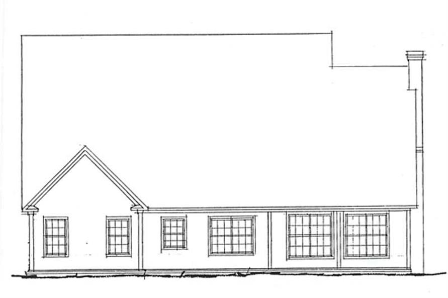 Home Plan Rear Elevation of this 4-Bedroom,2778 Sq Ft Plan -178-1085