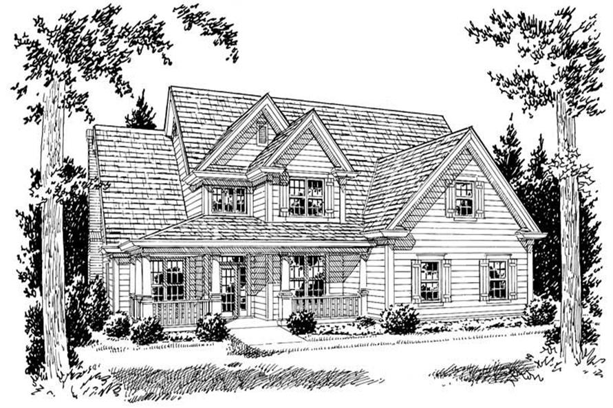 4-Bedroom, 2778 Sq Ft Country Home Plan - 178-1085 - Main Exterior
