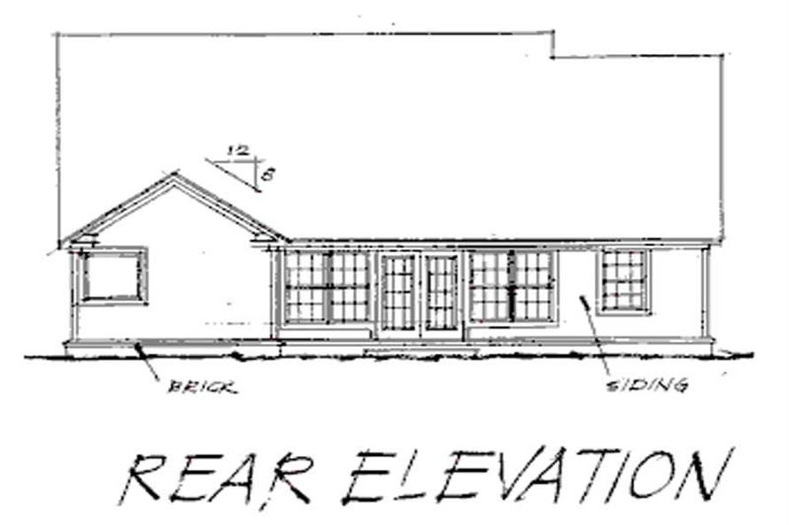 Home Plan Rear Elevation of this 3-Bedroom,1762 Sq Ft Plan -178-1086