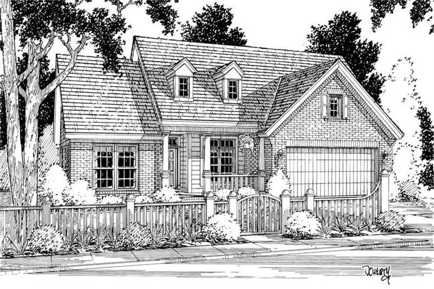 Home Plan Rendering of this 3-Bedroom,1762 Sq Ft Plan -178-1086