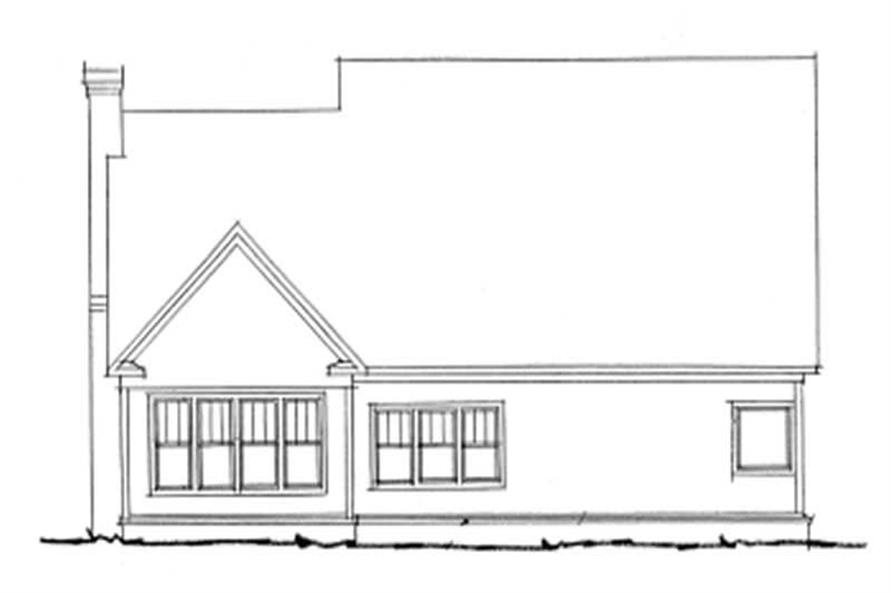 Home Plan Rear Elevation of this 4-Bedroom,2135 Sq Ft Plan -178-1087