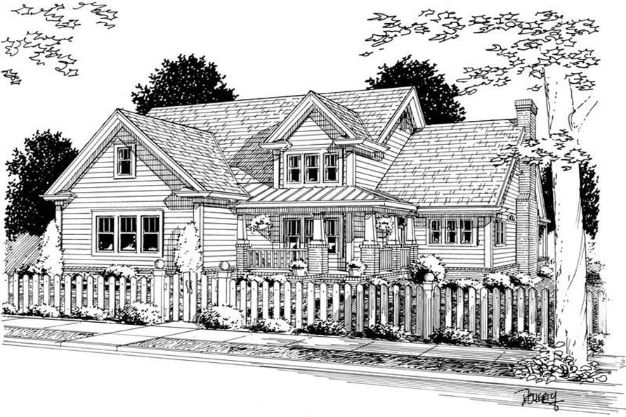 4-Bedroom, 2135 Sq Ft Country Home Plan - 178-1087 - Main Exterior