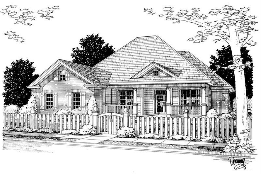 4-Bedroom, 1954 Sq Ft Country House Plan - 178-1089 - Front Exterior