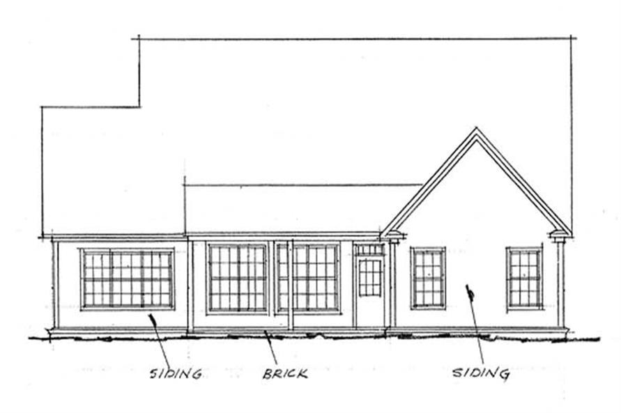 Home Plan Rear Elevation of this 3-Bedroom,2344 Sq Ft Plan -178-1091