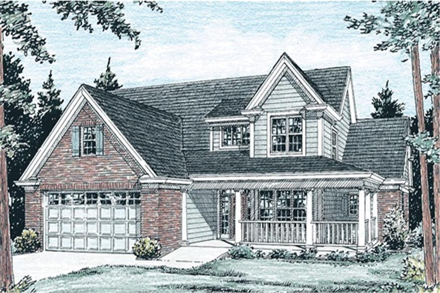 3-Bedroom, 2344 Sq Ft Country House Plan - 178-1091 - Front Exterior