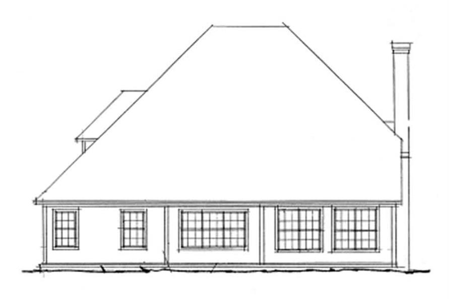 Home Plan Rear Elevation of this 3-Bedroom,2181 Sq Ft Plan -178-1092