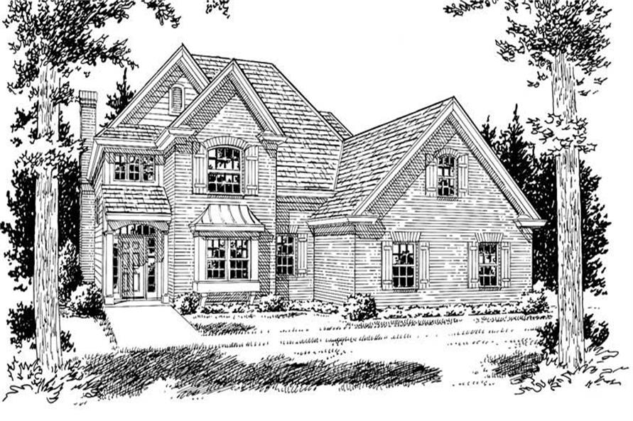 3-Bedroom, 2181 Sq Ft Country House Plan - 178-1092 - Front Exterior