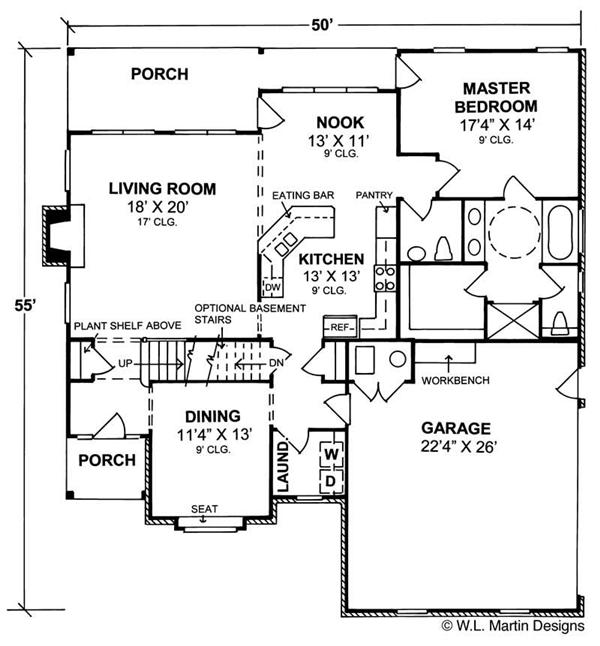 Wheelchair accessible floor plans for Handicapped accessible house plans