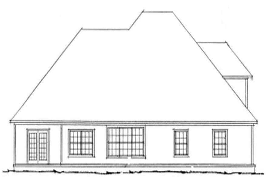 Home Plan Rear Elevation of this 4-Bedroom,2318 Sq Ft Plan -178-1093