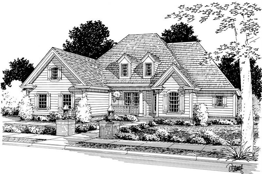 4-Bedroom, 2318 Sq Ft Ranch Home Plan - 178-1093 - Main Exterior
