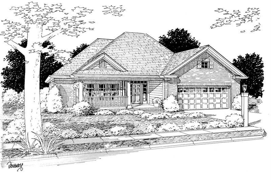 Main image for house plan # 5445