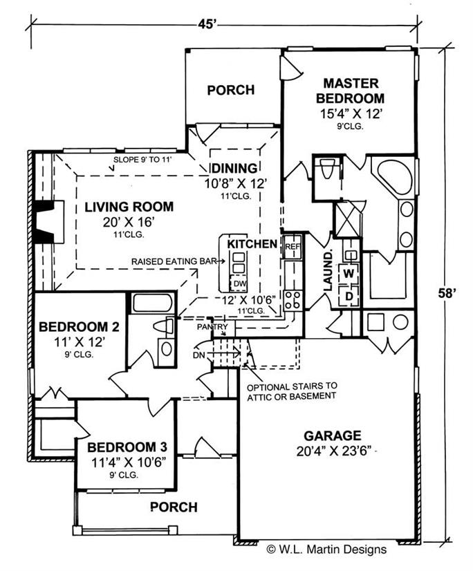 Traditional House Plans - Home Design Bayfield # 5445 on