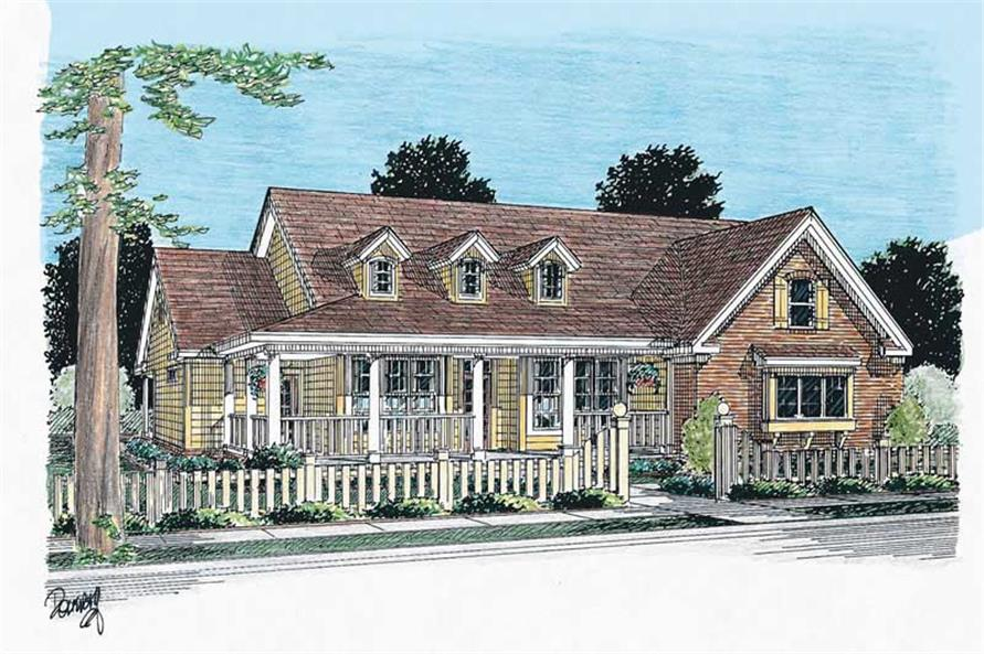 3-Bedroom, 1838 Sq Ft Country House Plan - 178-1098 - Front Exterior