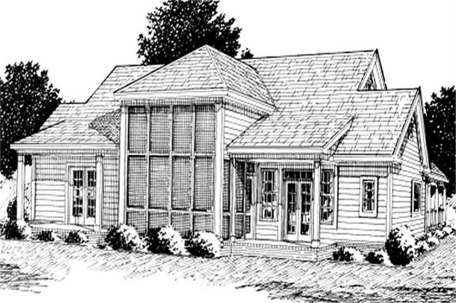 Home Plan Rear Elevation of this 3-Bedroom,2512 Sq Ft Plan -178-1103