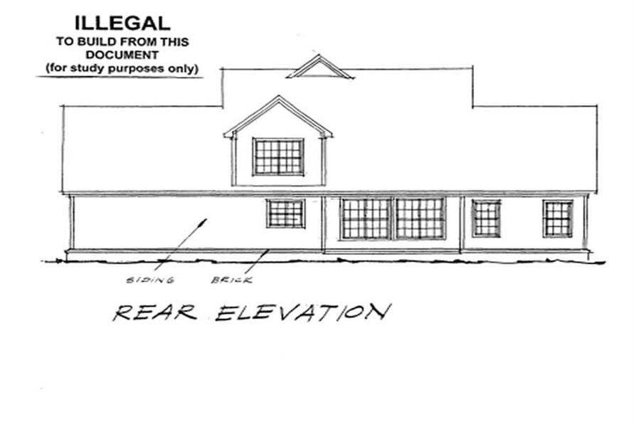 Home Plan Rear Elevation of this 3-Bedroom,2023 Sq Ft Plan -178-1106