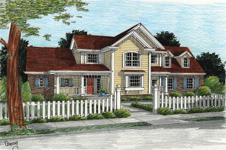 3-Bedroom, 2023 Sq Ft Country House Plan - 178-1106 - Front Exterior