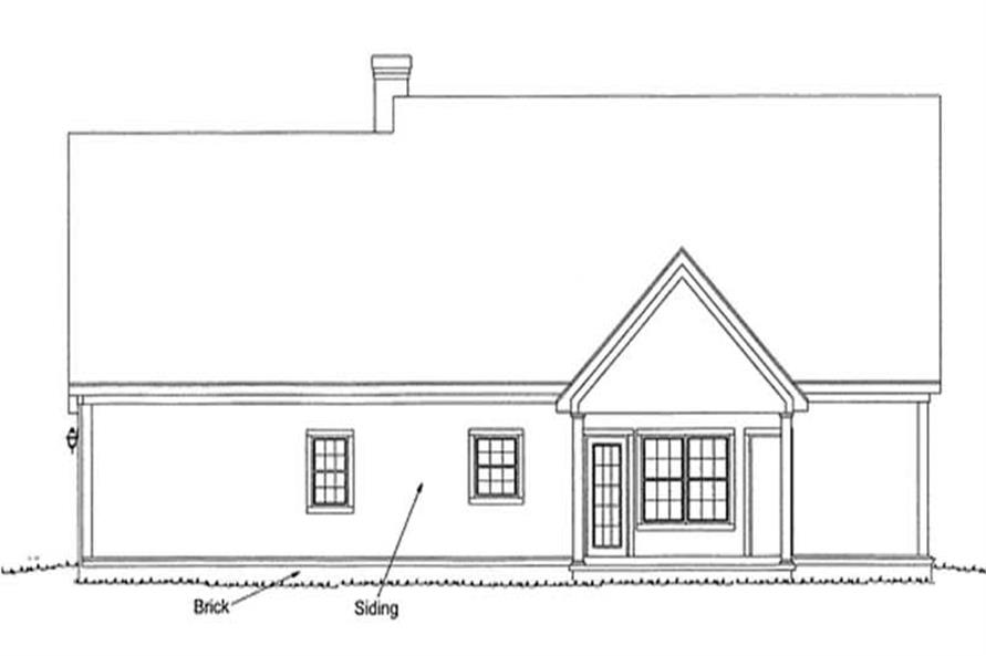 Home Plan Rear Elevation of this 3-Bedroom,1628 Sq Ft Plan -178-1108