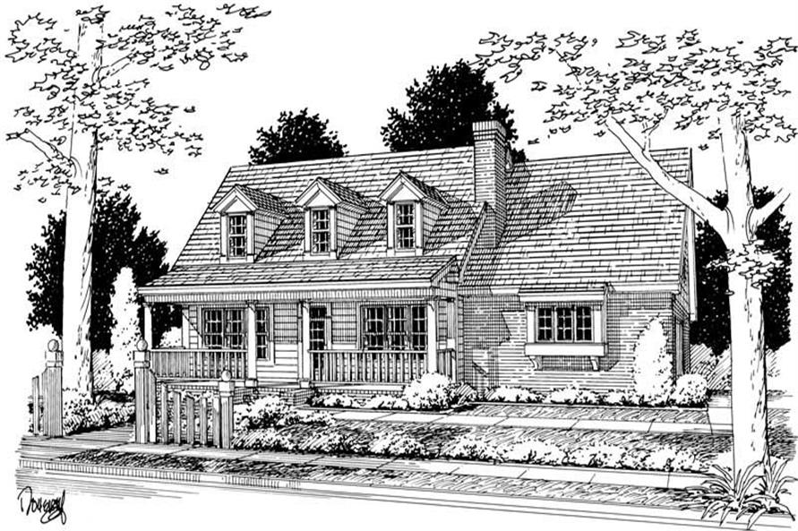 3-Bedroom, 1628 Sq Ft Country Home Plan - 178-1108 - Main Exterior