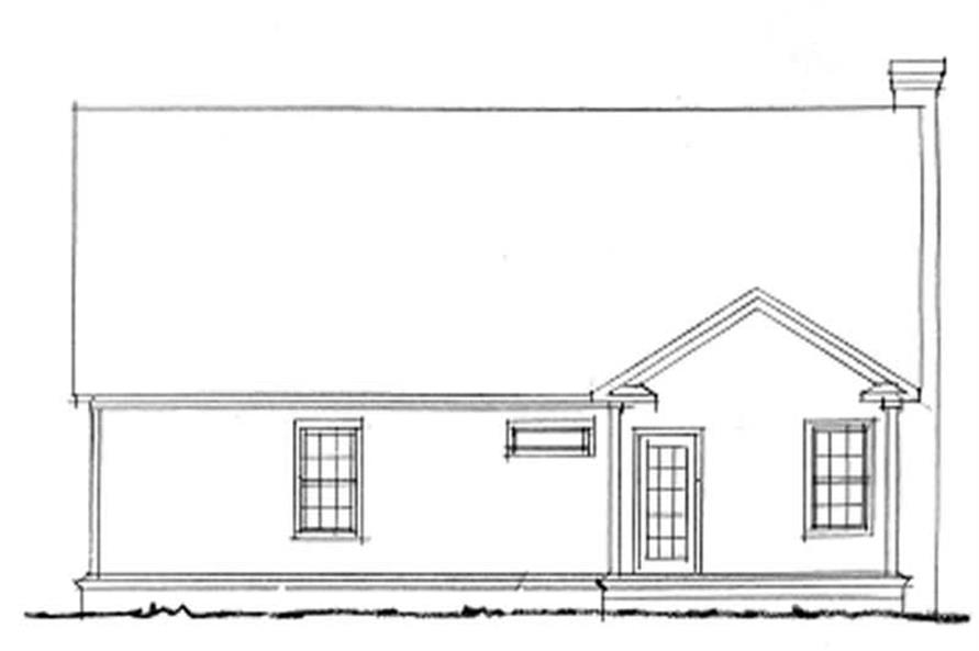 Home Plan Rear Elevation of this 4-Bedroom,1451 Sq Ft Plan -178-1109