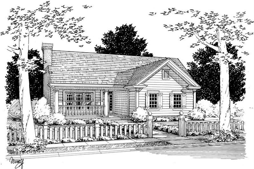 4-Bedroom, 1451 Sq Ft Country Home Plan - 178-1109 - Main Exterior