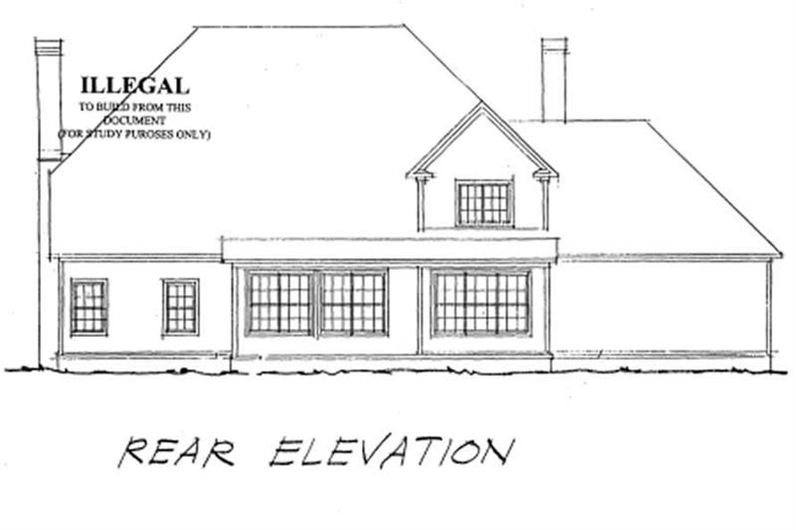 Home Plan Rear Elevation of this 4-Bedroom,3477 Sq Ft Plan -178-1110