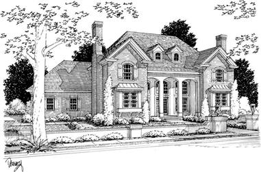4-Bedroom, 3477 Sq Ft European Home Plan - 178-1110 - Main Exterior