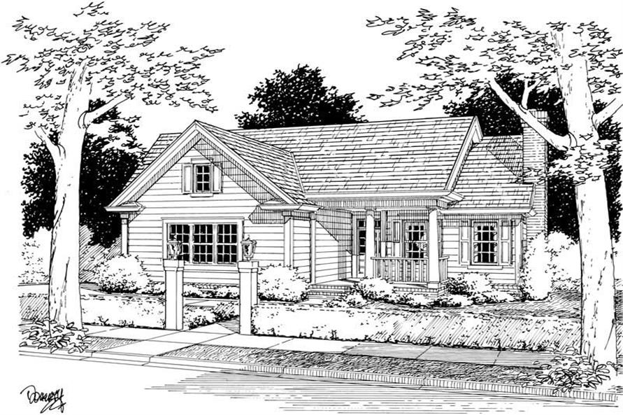 Main image for house plan # 5408