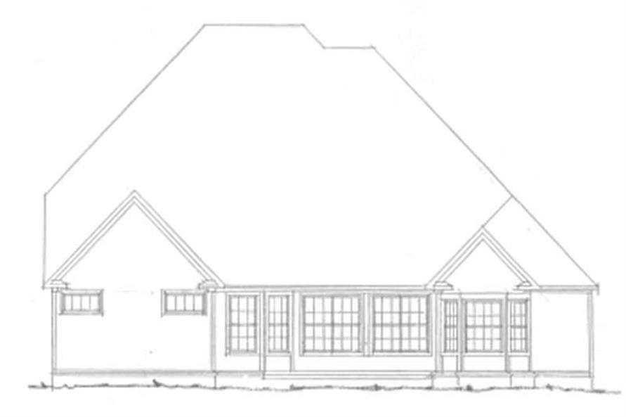 Home Plan Rear Elevation of this 4-Bedroom,3397 Sq Ft Plan -178-1113