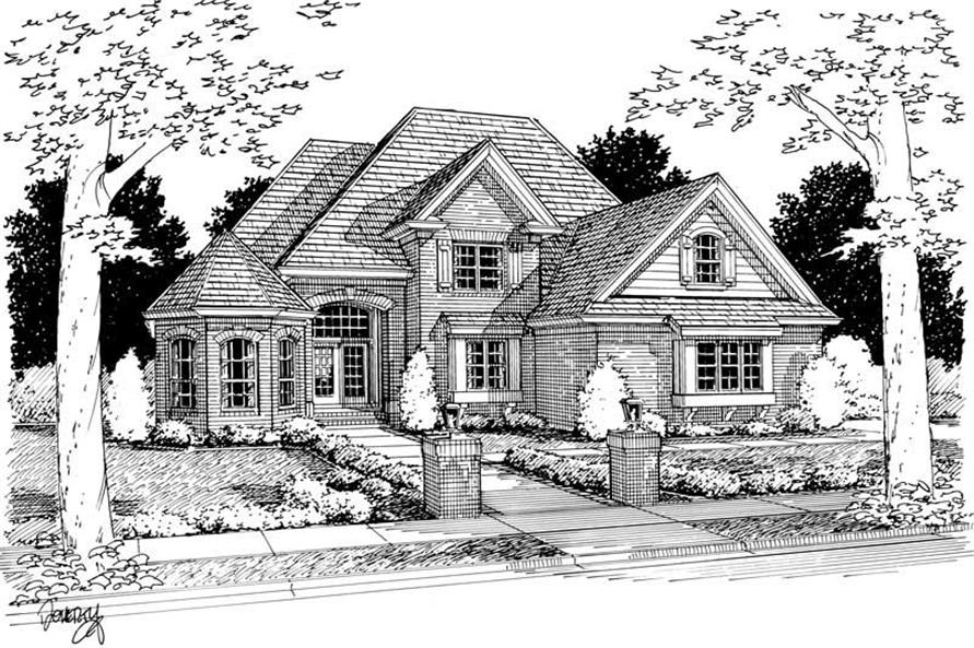 4-Bedroom, 3397 Sq Ft European Home Plan - 178-1113 - Main Exterior