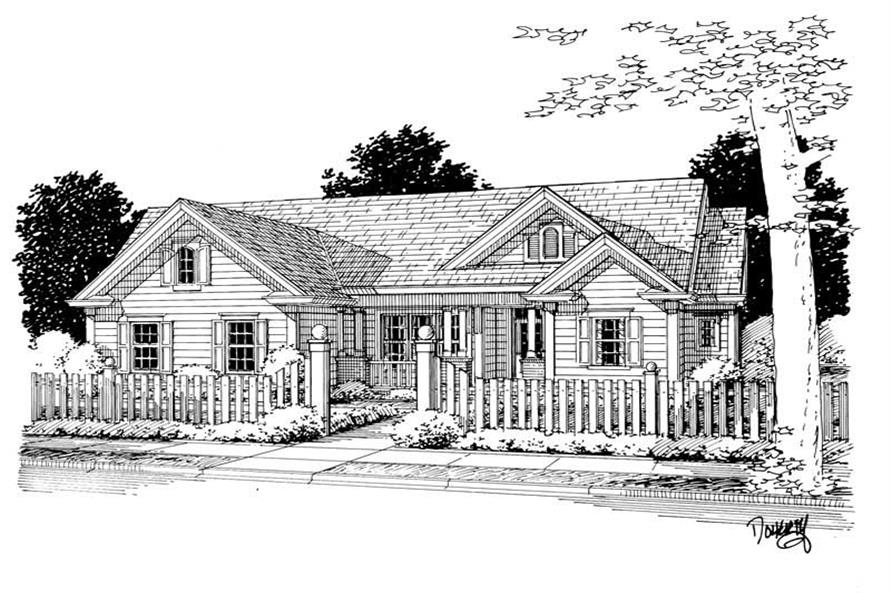 Main image for house plan # 5451
